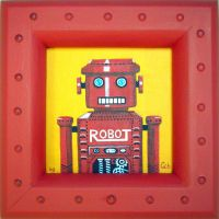 Robot Portrait. by gibsart