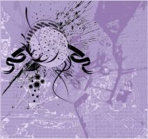 Abstract violet grunge by disable54