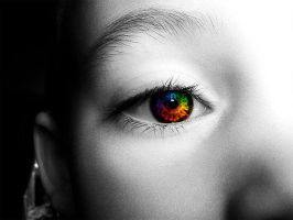 Rainbow Iris by ervand