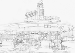 Mel's Drive In SKETCH by Yankeestyle94