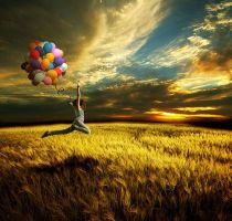 Flying Baloons by LadyAgnes