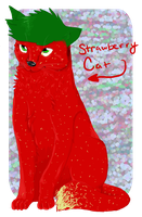 Strawberry Straaaaawberry Cat by foxyko