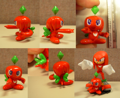 Sculpey: Knuckles Chao by SaturnGrl