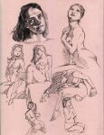 Figure Drawing Sketches by andreamontano