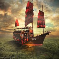 Sail boat by evenliu