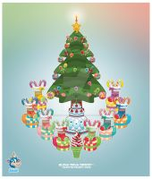 Kawaii Merry Christmas 2008 by KawaiiUniverseStudio