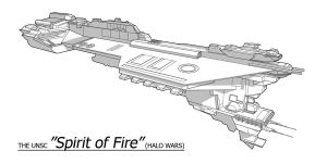 UNSC Ship - Spirit of Fire by Obhan