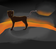 :OC Cyro: Lava by IronMeow