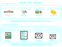 .+ How to Order Buttons +. by tobi2moodring