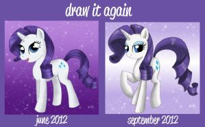 Before and After Meme: Rarity by Mel-Rosey