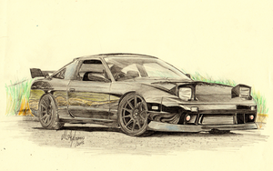 Nissan s13 180sx by CptSky