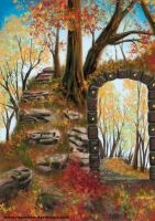 the archway - autumn by RAY-N-BOW