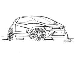 VW Fox concept - design sketch by Straxer