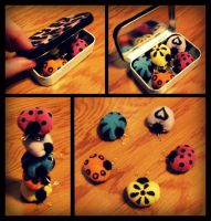 Little Buggy Magnets by Madelei