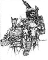 Wolverine_Punisher by markerguru