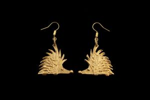 Hedgehog earrings by Ugrik