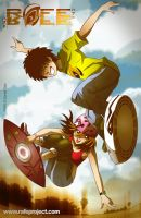 Skaters. Du and Lomi by RAFEPROJECT