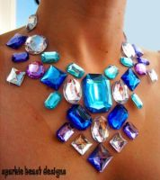 Crystaline Rhinestone Necklace by Natalie526