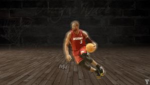 Dwayne Wade by bluezest1997