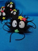 Susuwatari  Soot Sprites Brooch by ThisisHalloweenTown