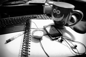 What Is Usually On My Desk by ISleepUnderYourBed
