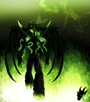 My Green Fire!/ Happy Halloween by ColorDrake