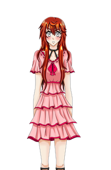 My visual novel MC blushed angry sprite by AgletFreeGirl-25