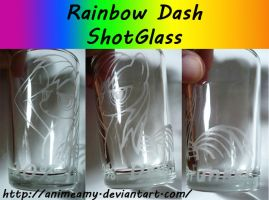Rainbow Dash Shot Glass by AnimeAmy