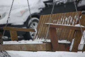 Snowy Swing by Evangilyna