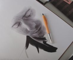 Tom Hiddleston Ballpoint Commission WIP by Bubblegum-Jellybean