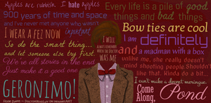 11th Doctor Collage by DoctorWhoLuv