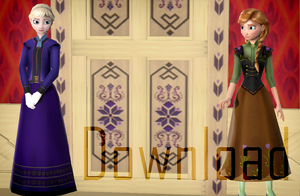 MMD Teen Elsa and Anna Download by Katsura-chan72