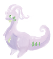 [Tablet doodle] Goodra by Cinderbutt