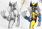 Wolverine Before/After by AlixPaugam