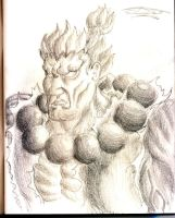 Akuma Sketch by Unreal-Forever