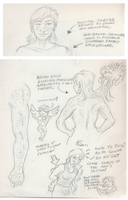 Cowgirl Applejack Anatomy Sketches 1 by Adan-Cricjer