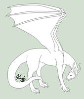 Free Dragon Lineart~ by Evelent
