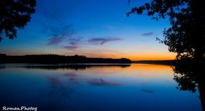 Sunset lake by RomanPhotog