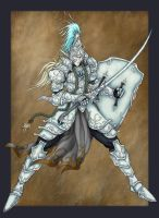 High elven swordsman by Archaia