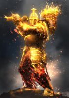 Soldier of the Sun / Golden Phantom 2 by conorburkeart