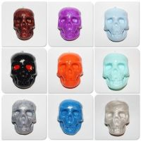 Polymer Clay Half Skull Pendants by CharmStop