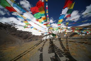 Prayer flags flying by Suppi-lu-liuma
