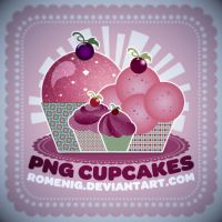 Free PNG Cupcakes by Romenig