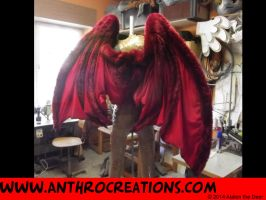 Dragon Wings Foldable Back View by AtalontheDeer