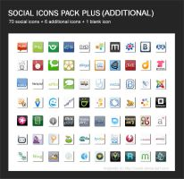 Social Icons Pack + II by Chocoreaper