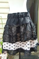 Skirt layers  bows lace  ripped by SewObession