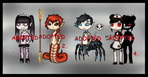 4 Random Characters Adopts (CLOSED) by Adopt-From-Frog