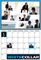 White Collar Calendar February by Sweet-Nepenthe