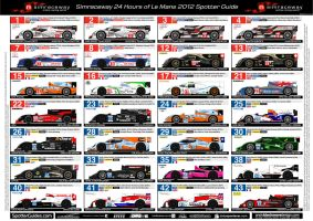24hrs of Le Mans Spotter Guide, Sheet 1 by andyblackmoredesign