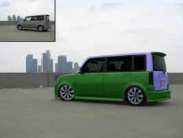 Scion xB Ompa Loompa Car by ModifierMR